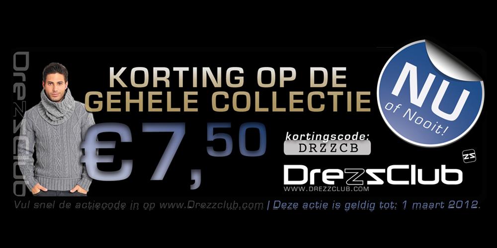 Actie - Kortingsbon Drezzclub