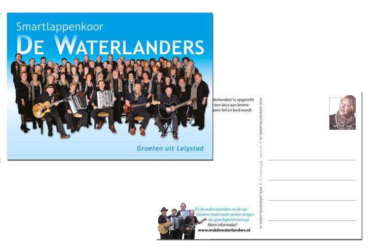 promotie ansichtkaart - De Waterlanders lelystad