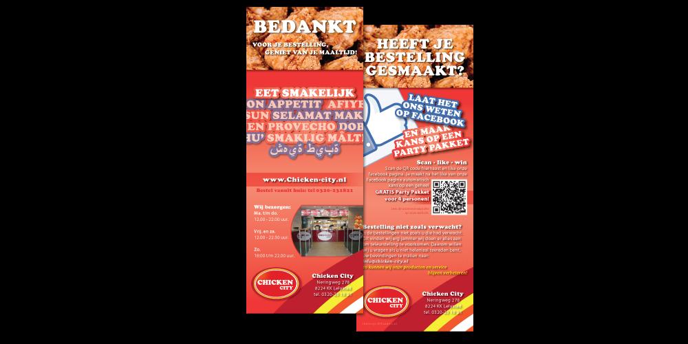 Flyer ontwerp Chicken City Lelystad